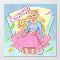 supergirl Canvas Prints featuring SUPERGIRL by OSKAR V.