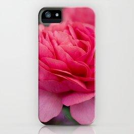 Vivid pink flower iPhone Case