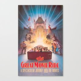 The Great Movie Ride Original Poster Canvas Print