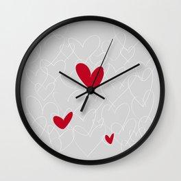 wild hearts grey Wall Clock