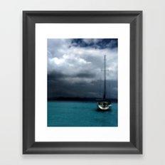 Stormy Sails Framed Art Print