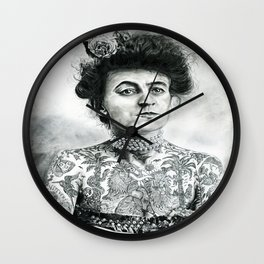 Inked Victorian Lady Wall Clock