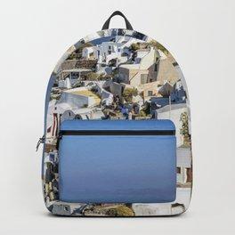 Oia in Santorini, Greece Backpack