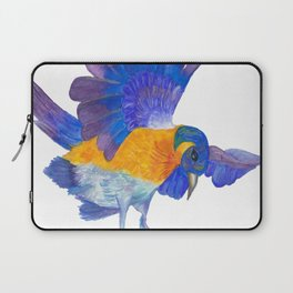 Bluebird watercolour painting handmade by lotusmoonray Laptop Sleeve