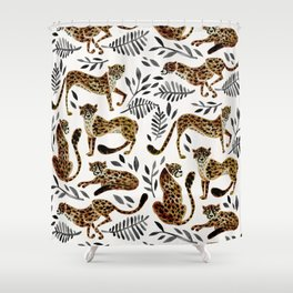 Cheetah Collection – Mocha & Black Palette Shower Curtain