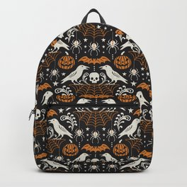 All Hallows' Eve - Black Orange Halloween Backpack