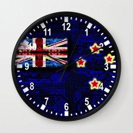 circuit board new zealand (flag) Wall Clock