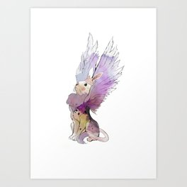 Rabbit from the Ashes Art Print