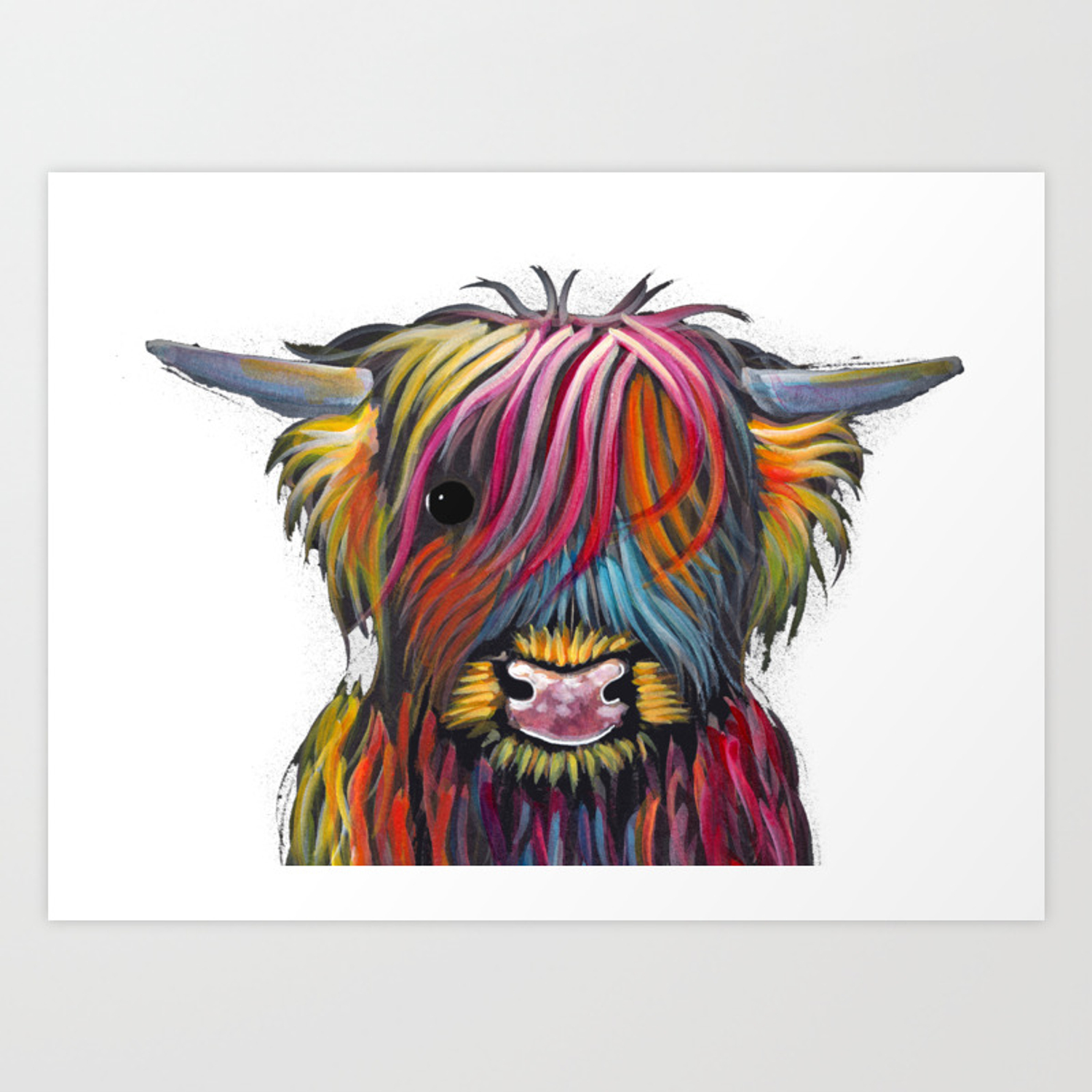 HIGHLAND COW PRINTS SCOTTISH from Painting TaRTaN BoLLY P SHiRLeY MacARTHuR