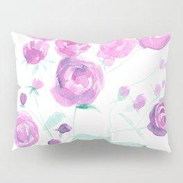 violet watercolor roses Pillow Sham