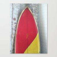 surfboard Canvas Prints featuring surfboard by Steve Coleman Photo
