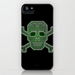 Hacker Skull Crossbones (isolated version) iPhone Case