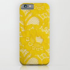 Yellow Lace Slim Case iPhone 6s