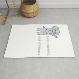 Anything Unrelated To Elephants Is Irrelephant Funny Elephant Pun Rug