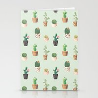 succulents Stationery Cards featuring Succulents  by Tasteful Tatters