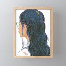 Long Hair Framed Mini Art Print