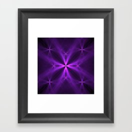Purple Swag Framed Art Print
