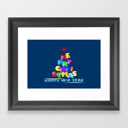 Merry Christmas Happy New Year Framed Art Print