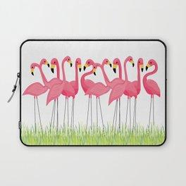 Cuban Pink Flamingos Laptop Sleeve