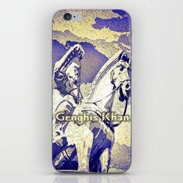 Spirit of the Great Gobi Desert - Genghis Khan iPhone Skin