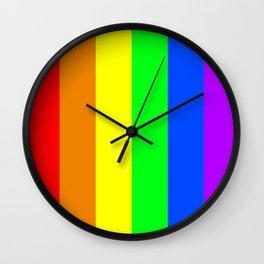 Rainbow flag - Vertical Stripes version Wall Clock