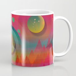 """Sci-fi Pop Landscape"" Coffee Mug"