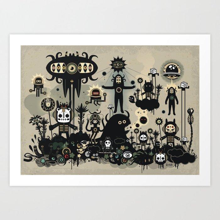 Hedgehog Divinity  Art Print