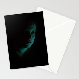 Teal Portrait Stationery Cards