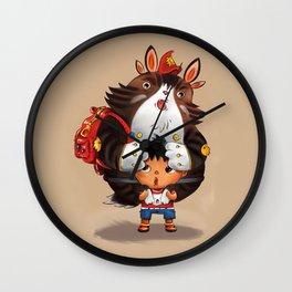 Bag Raccoon Monster Wall Clock