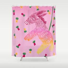 Pretty Piñata Shower Curtain