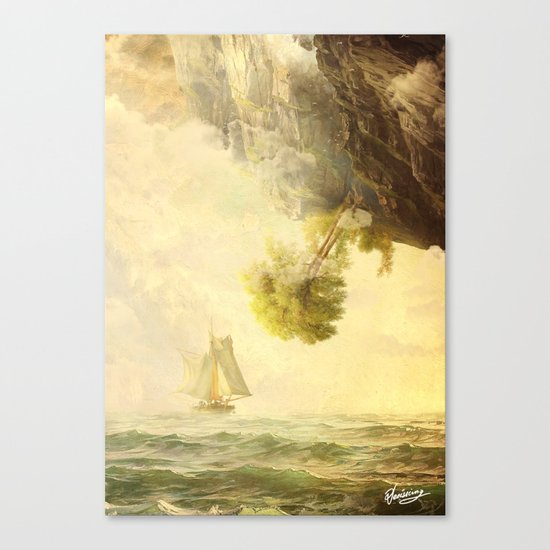 To Misty Mountains Canvas Print