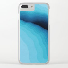 Cubed Glacier I Clear iPhone Case
