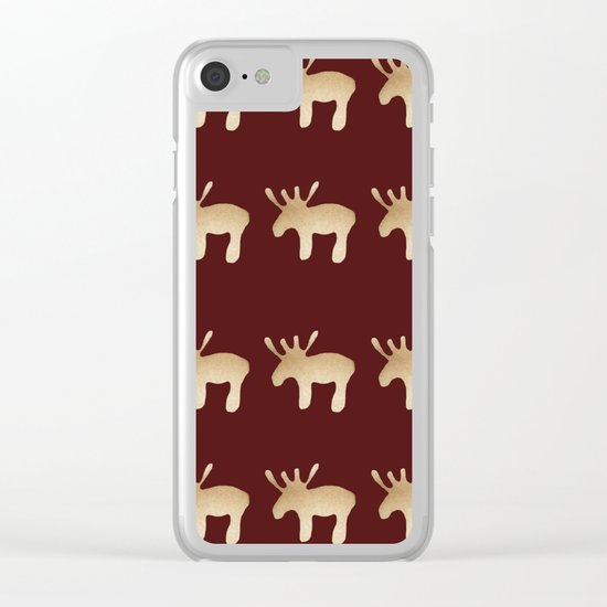 Reindeer queues Clear iPhone Case