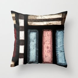 Abstract Window Geometric Contemporary Art Glass Throw Pillow