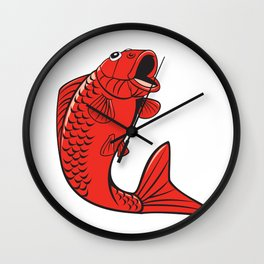 Koi Nishikigoi Carp Fish Jumping Cartoon Wall Clock
