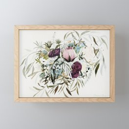 Rustic and Free Bouquet Framed Mini Art Print