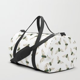 Cicada Jewels (White & Noir) Duffle Bag