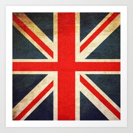 Vintage Union Jack British Flag Art Print