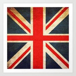 Vintage Union Jack British Flag Art Print
