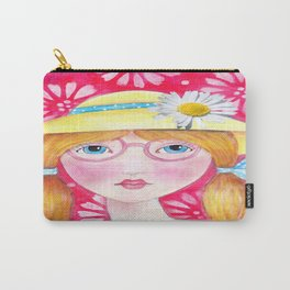 Whimiscal Girl with Yellow Hat  Carry-All Pouch
