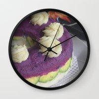 avocado Wall Clocks featuring Avocado by Hector Wong