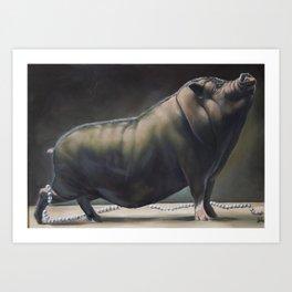 Miss Piggy Looses Her Pearls Art Print
