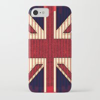 british flag iPhone & iPod Cases featuring BRITISH FLAG by shannon's art space