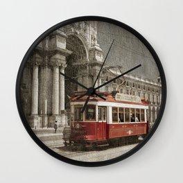 Praca do Comercio tram, Lisbon Wall Clock