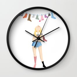 Orphan Sock Wall Clock