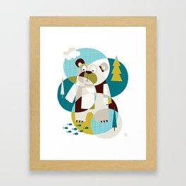 Bear Beware Framed Art Print