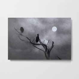 Birds By The Moonlight Metal Print