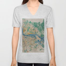 Amsterdam, the watercolor beauty Unisex V-Neck