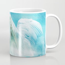 White Swan During a Summer Shower Coffee Mug