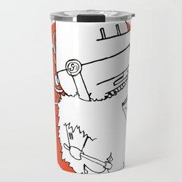 Hack It - Warrior Illustration Travel Mug